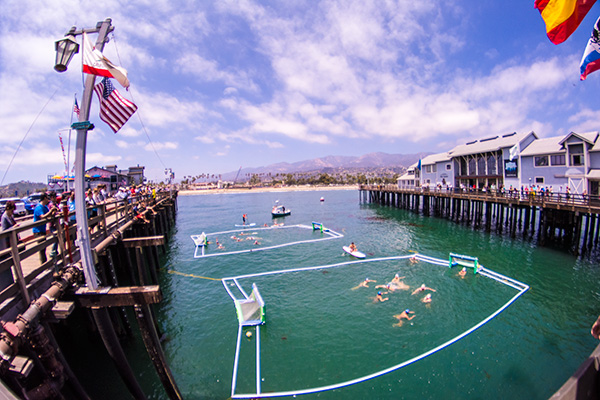 The wharf came alive with water polo on Saturday.