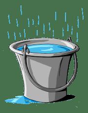 Resultado de imagen para cubetas agua de lluvia