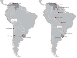Travesía de migrantes venezolanos al Uruguay. Fuente Libro Venezolanos en el Uruguay, Arellano, 2019