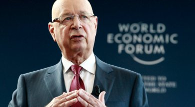 WEF Executive Chairman and founder Schwab addresses news conference in Geneva