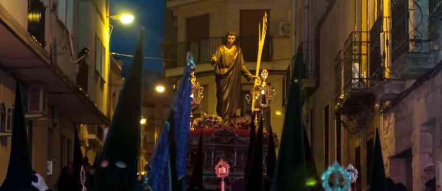 Foto del paso de misterio de San Juan Evangelista