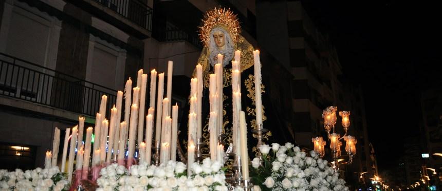 Foto del paso de la Virgen de la Soledad