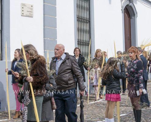 procesion oficial de las palmas jerez de los caballeros domingo de ramos semana santa