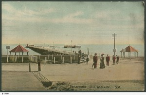 Semaphore Esplanade and Jetty C1890. Photo courtesy of State Library of South Australia B17600.
