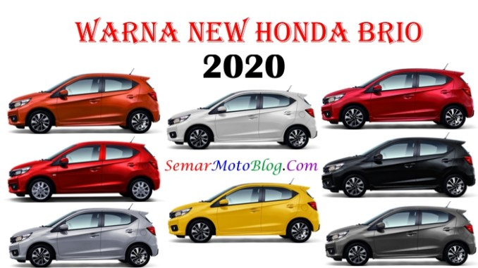 warna honda brio 2020