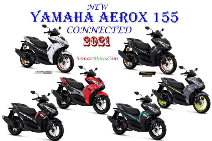 warna Yamaha aerox 155 2021 connected