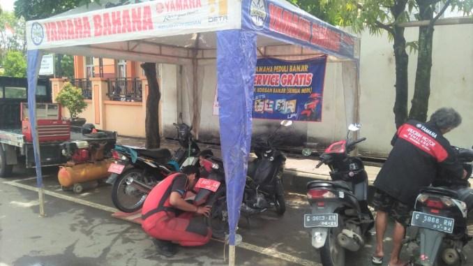 Yamaha Service Gratis Korban Banjir Jateng