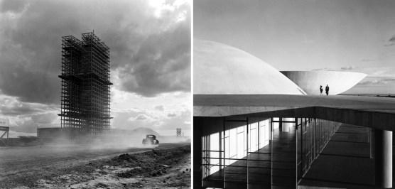Congreso Nacional, Brasilia, Brasil. Oscar Niemeyer. ph: Marcel Gautherot