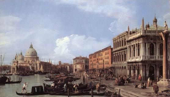 Canaletto, El Molo mirando hacia el oeste