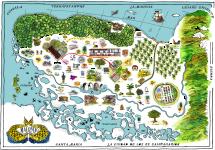 Mapa Macondo, Gabriel García Márquez