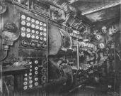 U Boat alemán 1918. Sala de control