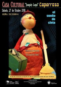 caparroso, el sueño de cleta, marionetas