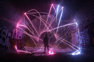 Taller lightpainting en pamplona