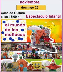 teatro infantil en Buñuel, mundo de muñecos