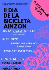 Día bicicleta en Ainzón 2018 cartel