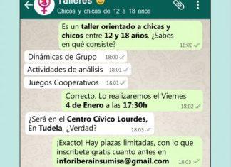 Taller sobre roles de género y relaciones de pareja en Tudela
