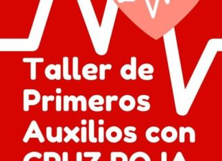 Cartel Taller Primeros Auxilios en san Adrián