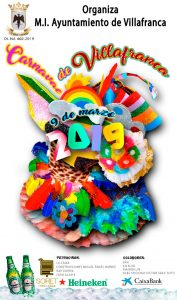 Cartel Carnaval 2019 en Villafranca