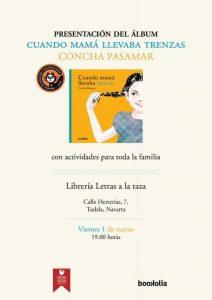 Cartel presentación libro concha Pasamar