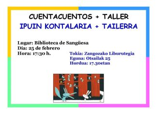 TALLER CUENTACUENTOS BIBLIOTECA SANGÜESA