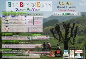 Cartel Día vías Verdes Navarra 2019