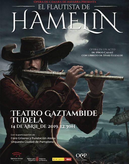 Cartel Opera Flautista Hamelin tudela