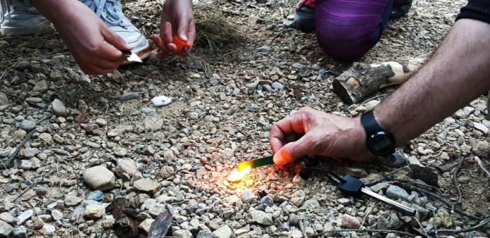 haciendo fuego con ferrocello