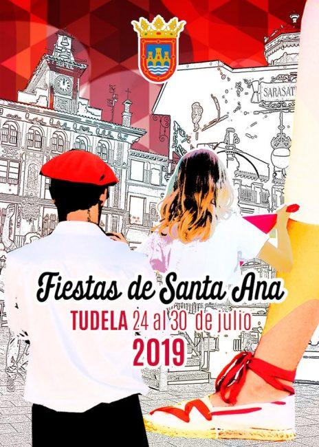 Cartel Fiestas Tudela 2019 Santa ana