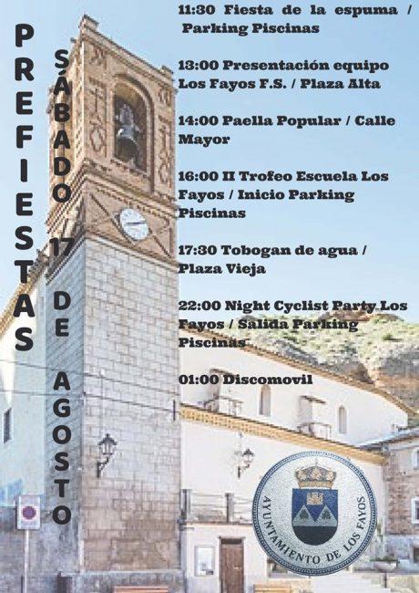 Jornada prefiestas en Los Fayos