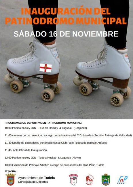 Inauguración patinódromo en Tudela