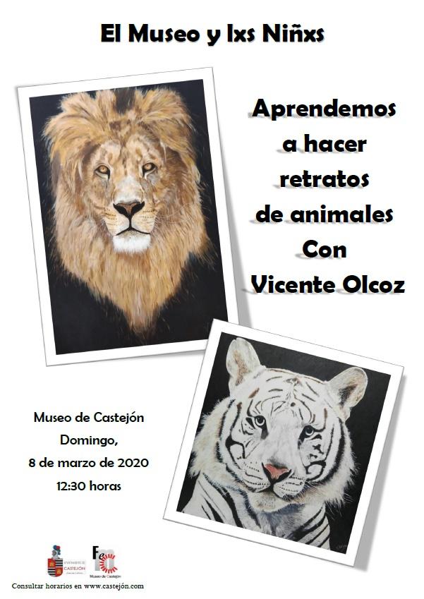 Caras y animales, taller infantil de pintura en Castejón
