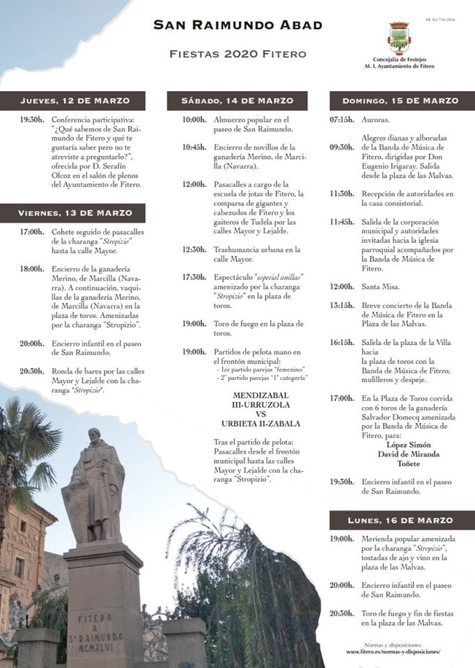 Fiestas de San Raimundo 2020 en Fitero
