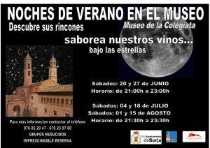 Noches de verano en el museo en Borja