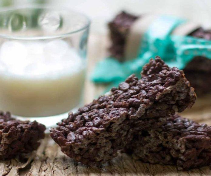 Barritas chocolate y arroz inflado