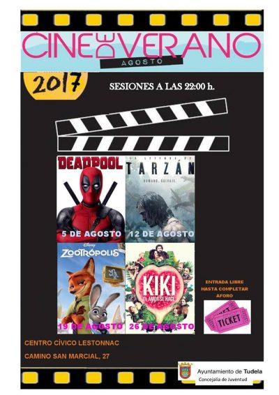 Cine de Verano en Lestonnac, Tudela