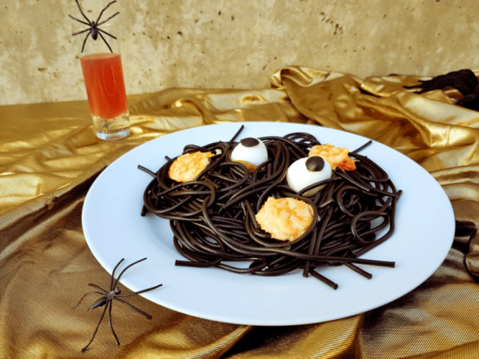 espaguetis negros halloween