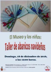abanicos navideños, museo de Castejón