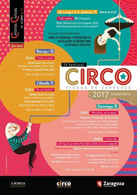 festival circo zaragoza planes con niños