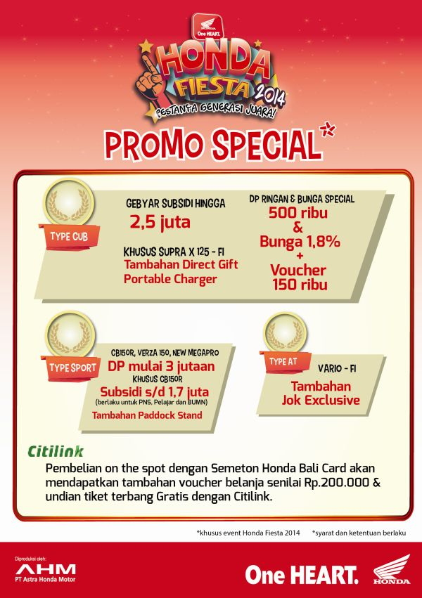 Promo Special Honda Fiesta 2014