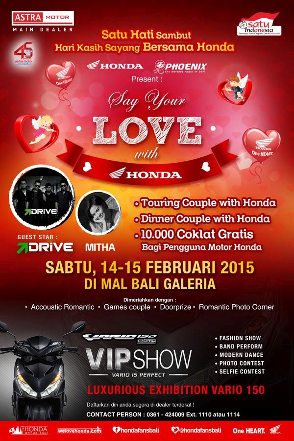 Valentine Bersama Honda Bali