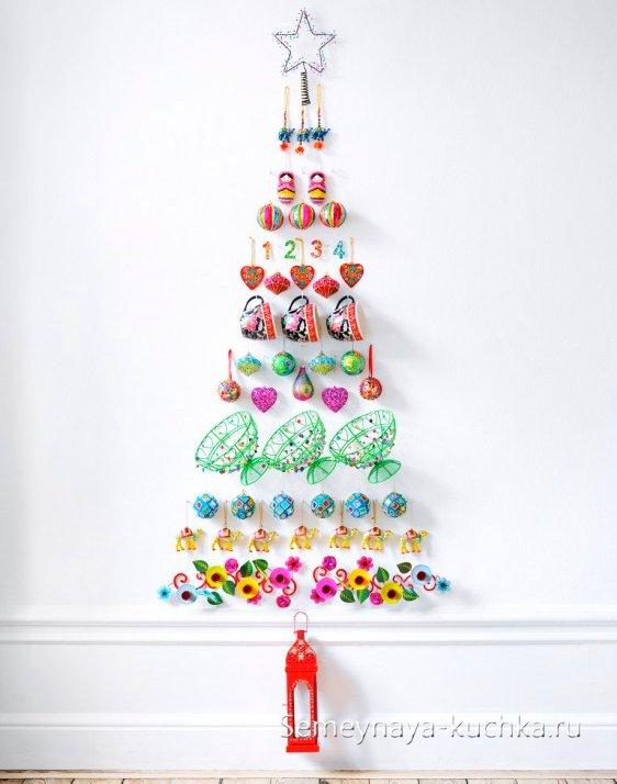 Árbol de Navidad en la pared se hace