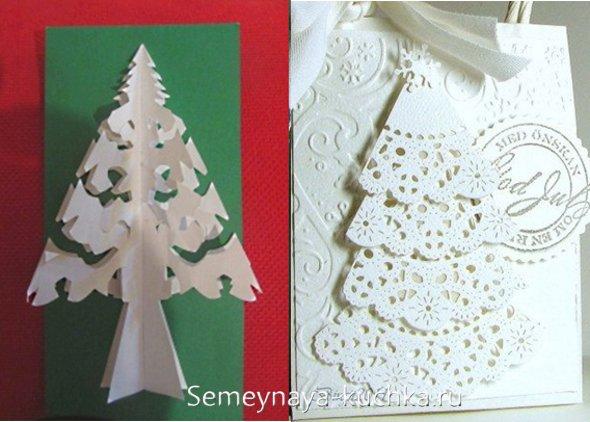 چگونه یک درخت کریسمس ساخته شده از برف های کاغذی