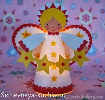 детская поделка светильник новогодний