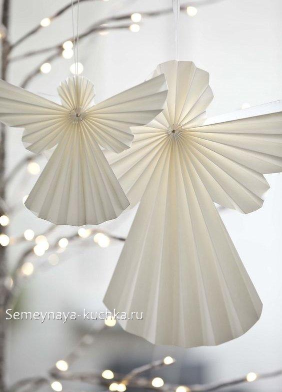 Angel de hârtie pentru Anul Nou