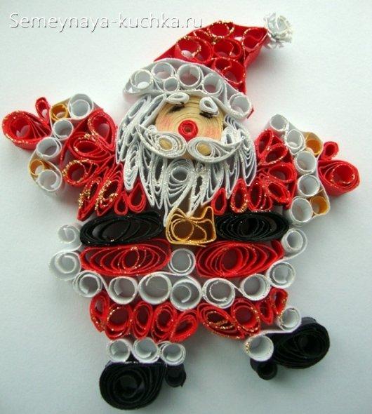 بابا نوئل برای سال نو از کاغذ