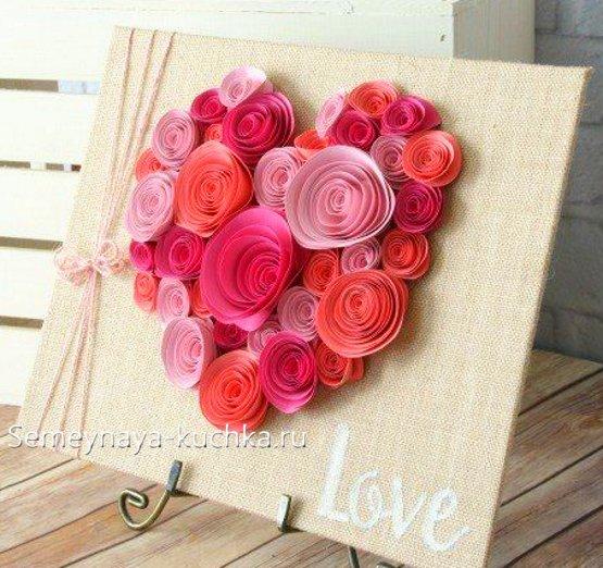 वेलेंटाइन दिवस पर गुलाब से शिल्प