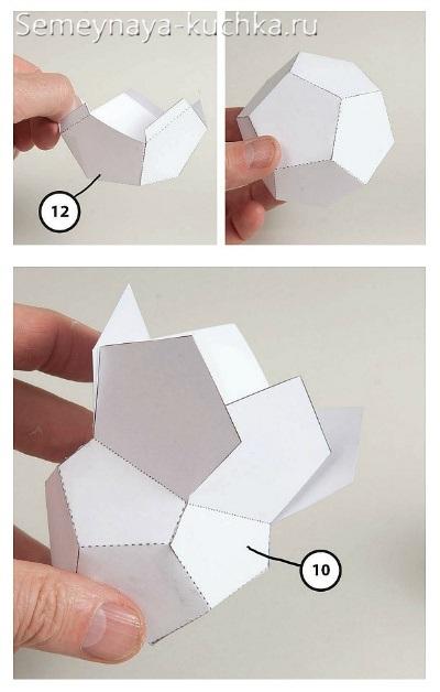 как делать снеговика из бумаги мастер класс