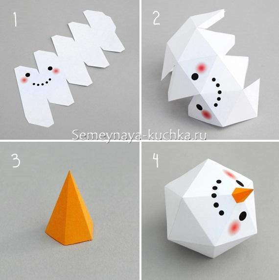 Người tuyết giấy làm thế nào để làm cho chính mình