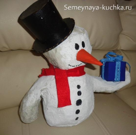 Газеттің снеговикі өз қолдарымен әдемі