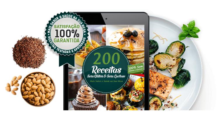 Livro Digital 200 Receitas sem Glúten e sem Lactose